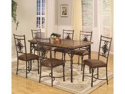 lifestyle dc088 7 piece rectangular dining table set with dining