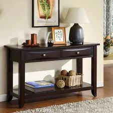 Entryway Table With Drawers Inspire Q Shemar 1 Drawer Flared Legs Accent Console Table Sofa