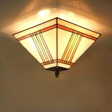 Stained Glass Ceiling Light Fashion Style Orange Lights Beautifulhalo