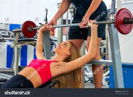 fitness friends workout gym woman working stock photo 593500715