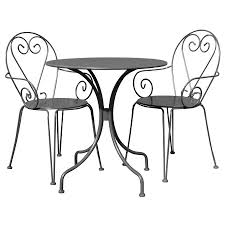 Grey Bistro Table Charles Bentley Metal 2 Seater Grey Bistro Set Robert Dyas
