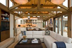 Decorative Beams L Shaped Couches Living Room Industrial With Chez Lounge City View