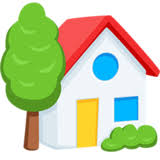 house emoji house with garden emoji on messenger 1 0