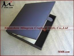 Fabric Photo Album 10x10 Leather Fabric Linen Wood Photo Album Storage Packaging Box