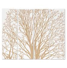 arbor spring tree white carved wood wall mural art kathy kuo home
