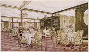 titanic first class dining room what the most expensive ticket on the titanic bought you money