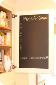 5 chalkboard ideas for meal planning kitchen cupboards