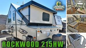 new pop up hard side 2018 rockwood 215hw a frame camper rv