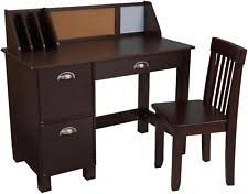 Kidkraft Pinboard Desk With Hutch Chair 27150 Brown And Desks Ebay