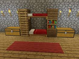Minecraft How To Make A Bunk Bed Minecraft Bunk Bed Furniture Minecraft Creations Pinterest