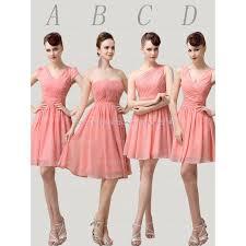 peach bridesmaid dresses chiffon bridesmaid dress short
