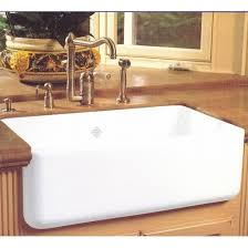 Rohl RC Shaws Original Single Bowl Fireclay Apron Kitchen Sink - Shaw farmhouse kitchen sink