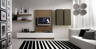 minimalist black white living room theme layouts with white sofa