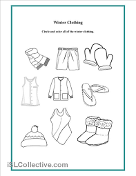 6 best images of winter wear worksheet preschool printable