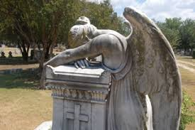 cemetery statues grief weeping angel statues in houston dallas scottsville