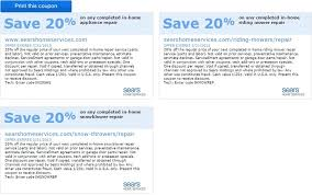 sears home services sears home services coupon save 20 on any completed in home