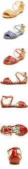 2017 red patent leather beautiful girls sandals simple girls flat