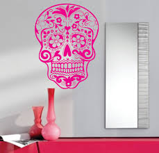 roommates rmk1622gm flower stripe peel stick giant wall decal sugar skull wall vinyl decal sticker art graphic sugarskull via etsy ns pinterest decals and
