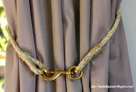 Curtain Rope Tie Backs Passions Diy Rope And Brass Curtain Tie Backs