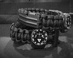 fire cord bracelet images Sos paracord survival kit bracelet edc 550 firecord compass etsy jpg