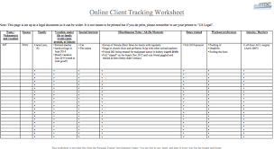 Customer Tracking Excel Template Personal Trainer Client Tracking Spreadsheet Theptdc