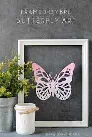 framed ombre butterfly silhouette promotion grows