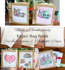 make a paper bag thanksgiving book and free