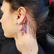 feather tattoo behind ear pictures best tattoo 2017