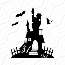 halloween silhouette png haunted house svg halloween clipart halloween svg cut table