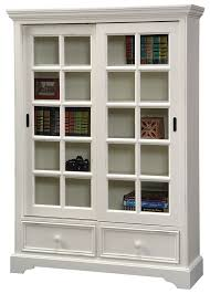 Antique White Bookcase With Doors Hoot Judkins Bookcases Doors Pine Sliding Door Bookcase Antique