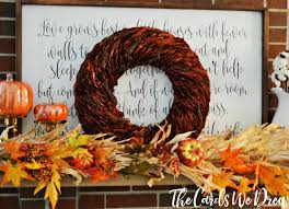how to decorate for fall on budget with the cards we drew