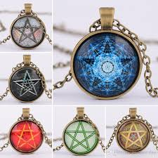 vintage necklace styles images Wholesale 6 styles fashion vintage jewelry mysterious pentagram jpg