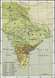Mongolian Empire Map Map Of India With The Mughal Empire And The Emperor Akbar U0027s
