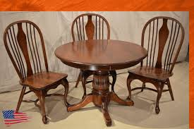Amish Chair Amish Furniture Michigan Tulip Base Table Belmont Queen Ann Chair