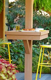 add dining space for large groups by attaching tables to deck
