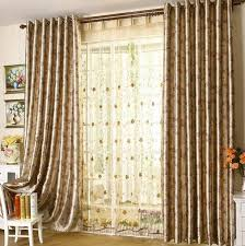 Design Curtains Living Room Geometric Top Border On A Hop Sack - Curtain design for living room