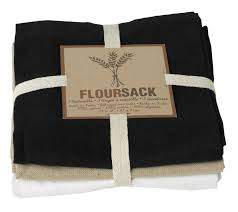 now designs kitchen towels now designs floursack dishtowels 3pk black oyster white 064180005842