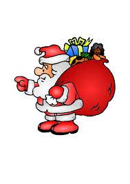 animated santa santa claus with his bag clip at clker vector clip