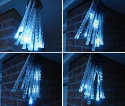 Leder White Connectable Led Meteor Snow Fall Icicle Lights