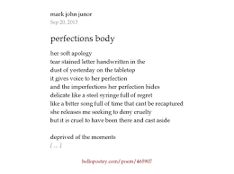 Seeking Stain Cast Perfections By Junor Hello Poetry