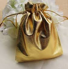 gold gift bags 50pcs lot gold gift bag 7x9 cm candy pouches golden drawstring big