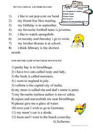 85 free esl punctuation worksheets