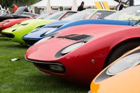 lamborghini miura lamborghini miura celebrates 50th anniversary at monterey car week