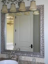 Framed Bathroom Vanity Mirrors by Bathroom Large White Framed Bathroom Mirror Ideas Framed