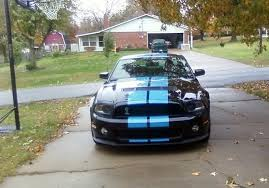 Blue Mustang Black Stripes Please Post Pics Of A Black Gt500 With Grabber Blue Stripes