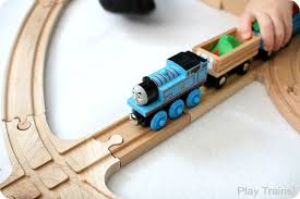 snow wooden train layouts