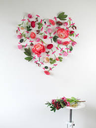 Valentine Wall Decorations Ideas by Valentines Day Flower Wall Art View In Gallery Loversiq