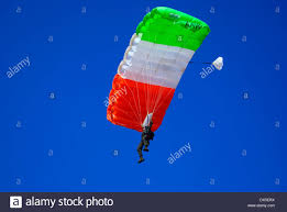 Flag Og India Parachute Regiment Of Indian Army Parachuting On Indian Flag Color