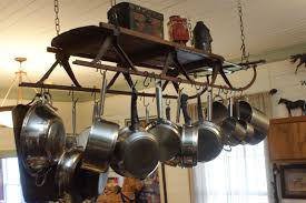 Hanging Bakers Rack Kitchen Wall Mounted Pots And Pans Rack Pot And Pan Rack
