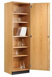 Wood Storage Cabinet With Locking Doors Diversified 313 2422 Wall Storage Cabinet Solid Doors 24 X 84